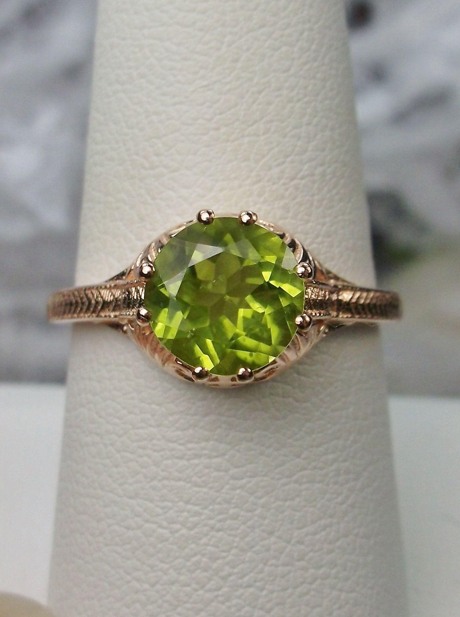 Victorian Natural Peridot 10k Rose Gold Victorian Filigree Ring Made To Order Design 158 Antique Filigree Jewelry Peridot Gemstone Peridot