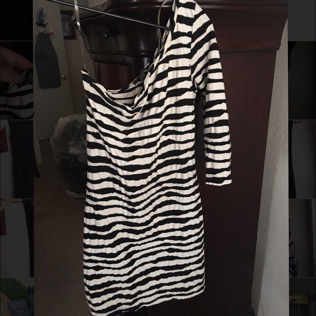 One Shoulder Long Sleeved Dress.