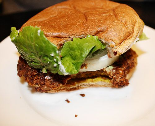 Another black bean and quinoa burger recipe - sounds better than the last one I tried