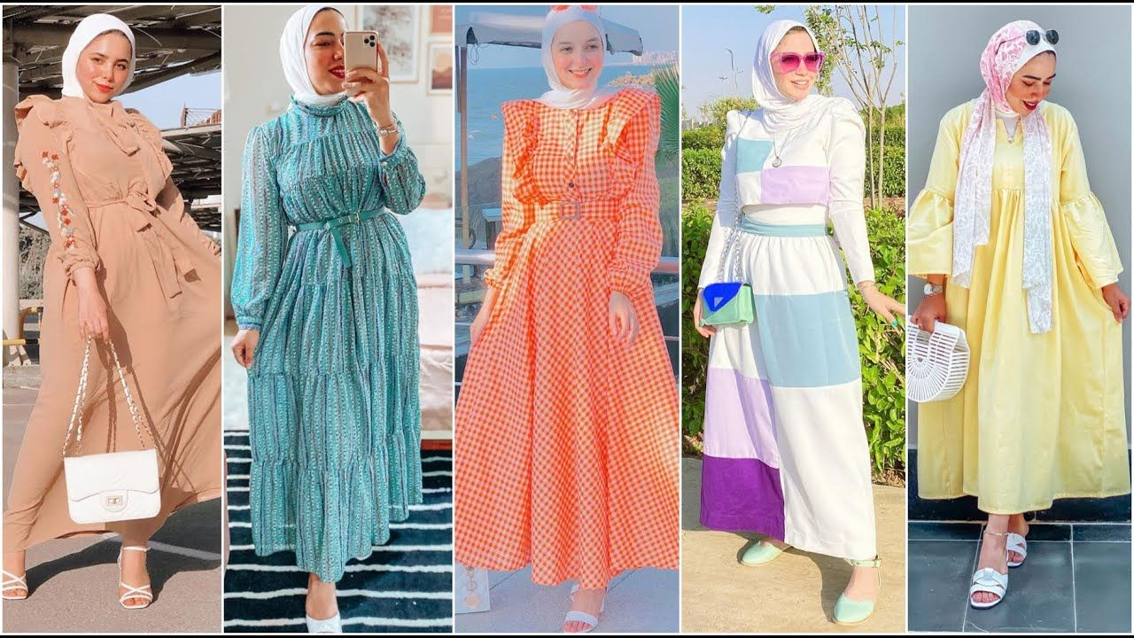 ملابس بنات محجبات صيف 2020 فساتين صيفية 2020 ملابس العيد للبنات Fashion Dresses Cover Up