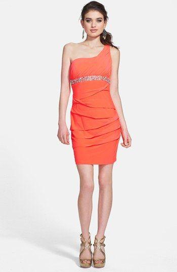 Semi Formal Dress For Belle Way In Embellished Ruffle One Shoulder