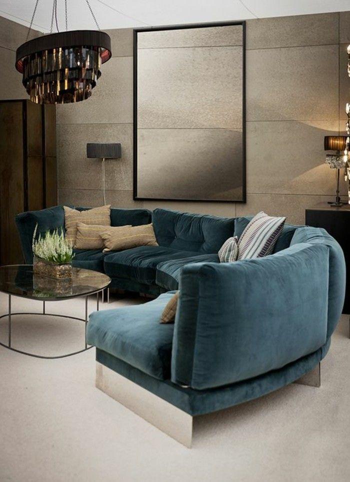 Meubles D Interieur Moderne Canape D Angle Arrondi Bleu Moquette Beige Canape Angle Canape D Angle Arrondi Canape Arrondi