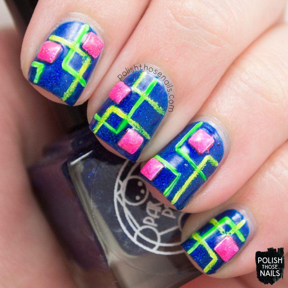 Polish Those Nails // 40 Great Nail Art Ideas - Neon Squares (*press ...