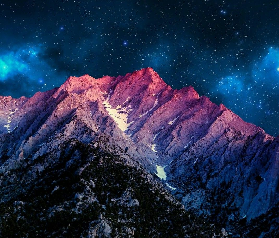 Mountains With Night Sky Landscape Wallpaper Mountain Wallpaper Night Sky Wallpaper