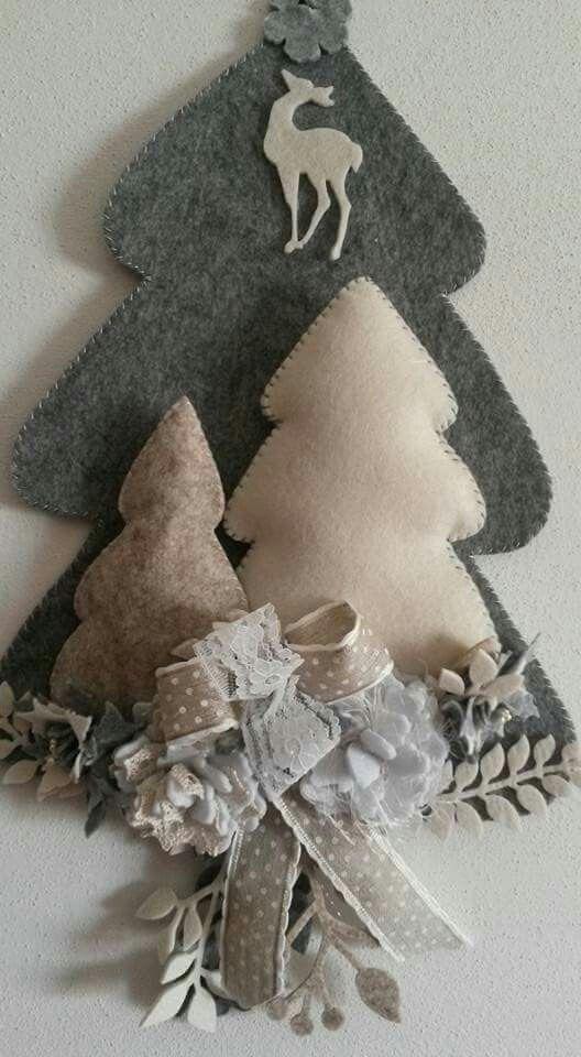 Decorazioni Natalizie Fatte A Mano.Tanti Regali Di Natale Su Www Kepago It Natale Alberi Di Natale Feltro Di Natale
