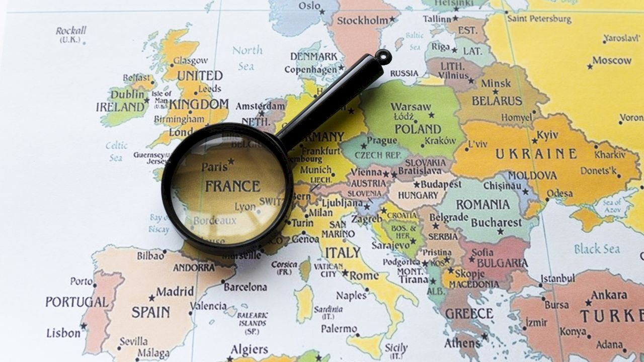 أين تقع فرنسا France Country European Map Facts About France