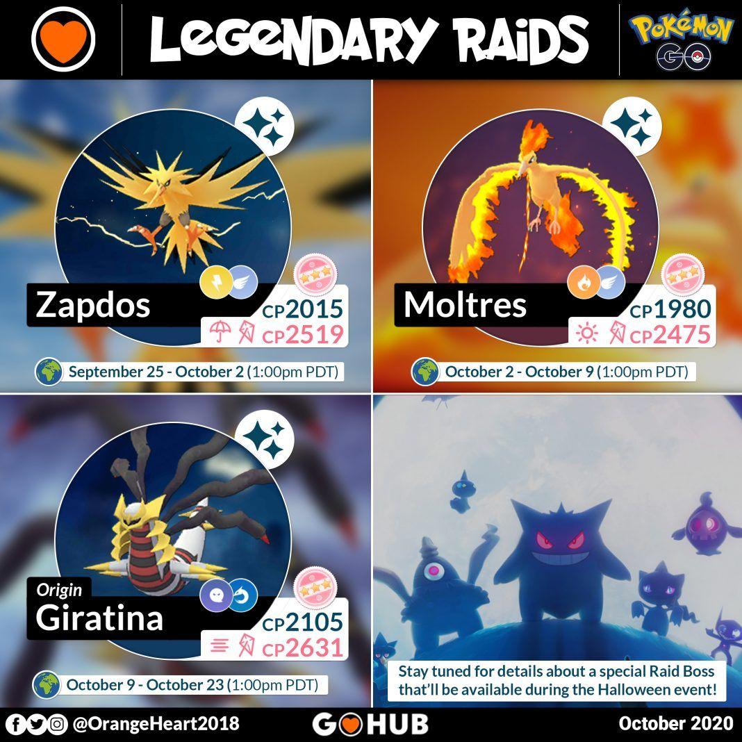 Pokemon Go Halloween Raid Bosses