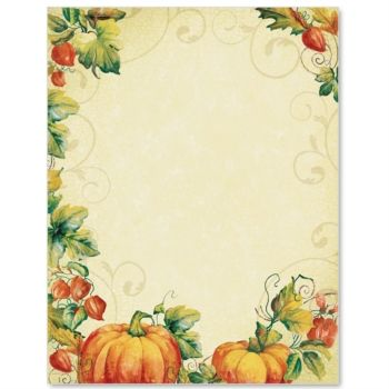 Pumpkin Spice Border Paper PaperDirect Borders for