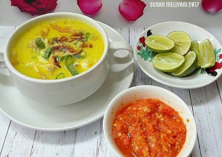Resep Soto Ayam Santan Oleh Susan Mellyani Resep Resep Resep Masakan Resep Masakan Asia