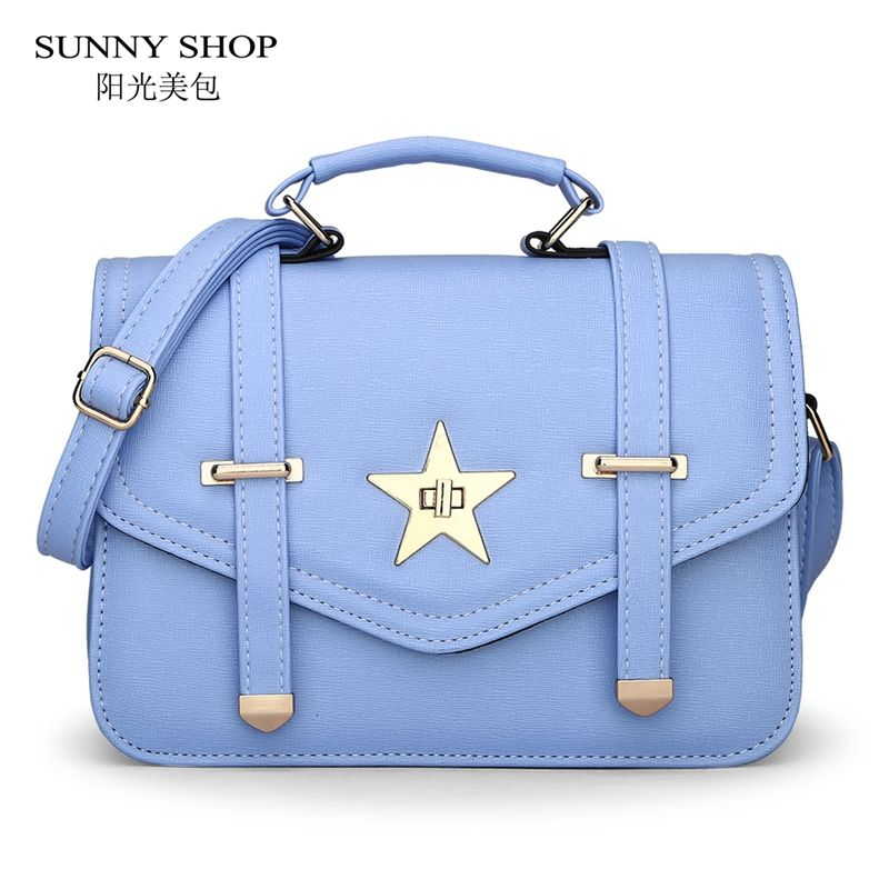 Sunny 2017 Summer Fashion S School Messenger Bags Cute Women Bag Small Leather