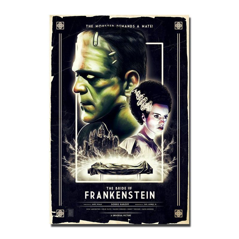 FRANKENSTEIN Poster Art Silk Hot Movie Poster 13x20 24x36 inch J680