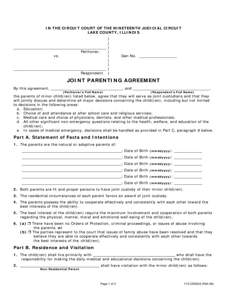 Co Parenting Agreement Letter from i.pinimg.com