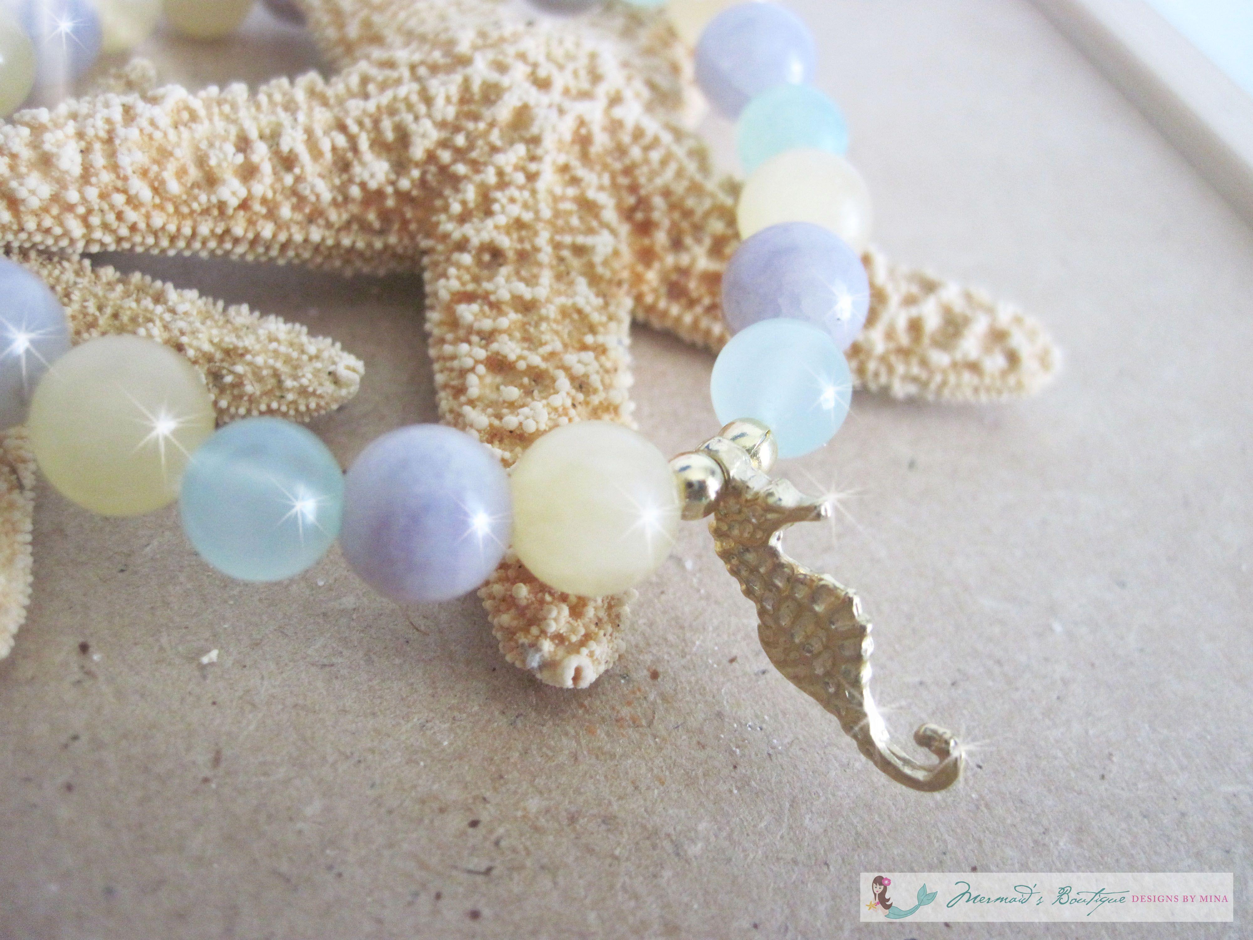 HawaiianDream Shell and Glass Bead Necklace Set