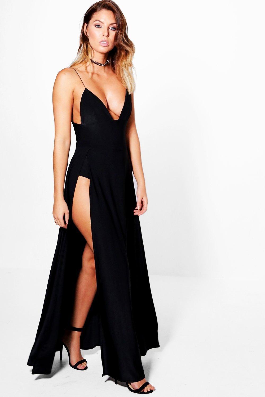 9cb21db7938e Lilibeth Double Thigh Split Slinky Maxi Dress | #OOTD | Dresses ...