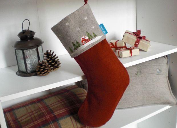 Winter Lodge Christmas Stocking Starting from £24.00  www.katesprostondesign.com