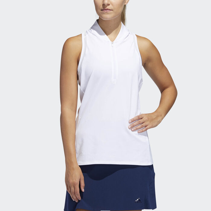 e82f4588 Sleeveless Polo Shirt White XL Womens in 2019 | Products | Polo ...