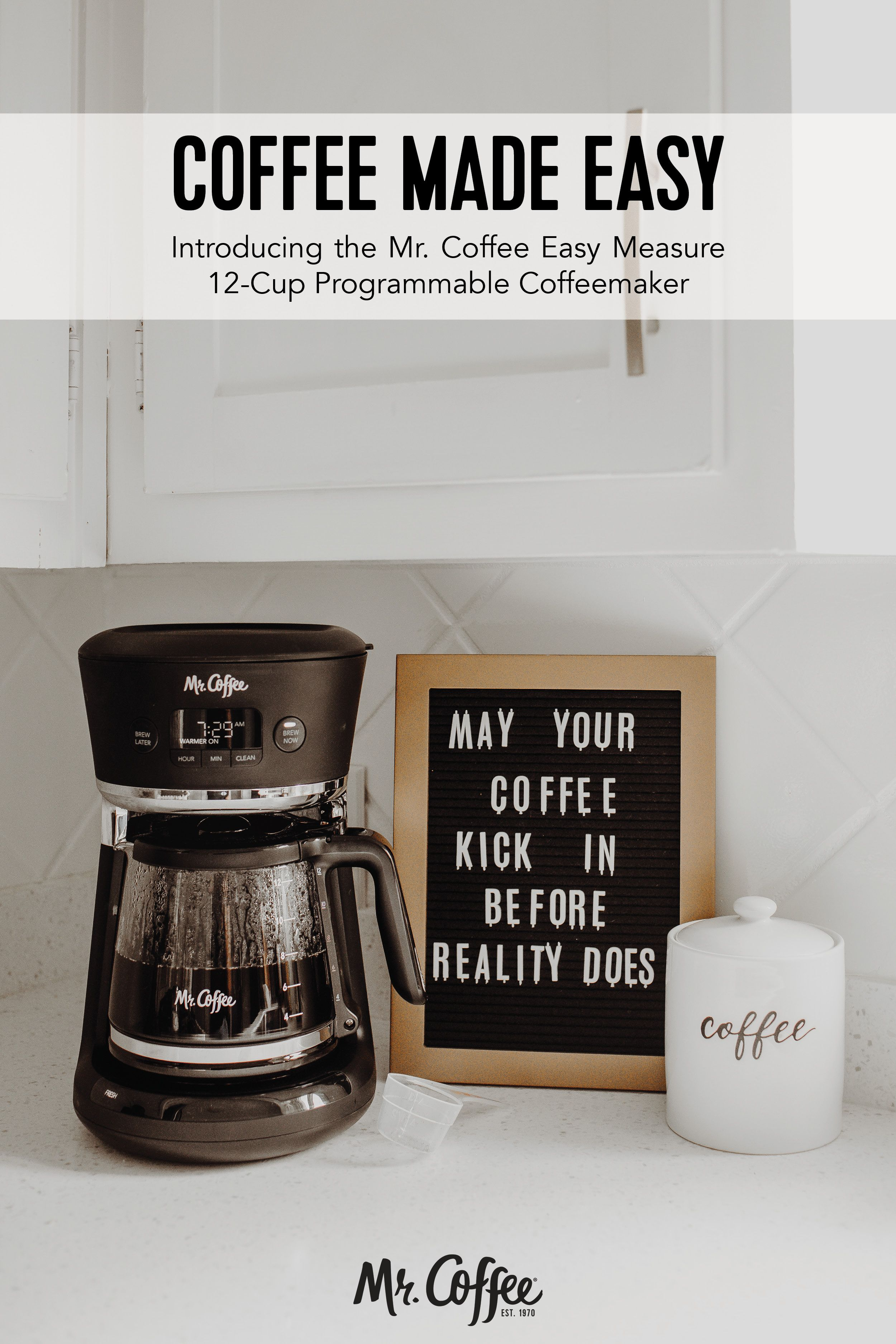 Mr Coffee Easy Measure 12 Cup Programmable Coffee Maker Black In 2020 Coffee Maker Coffee Mr Coffee
