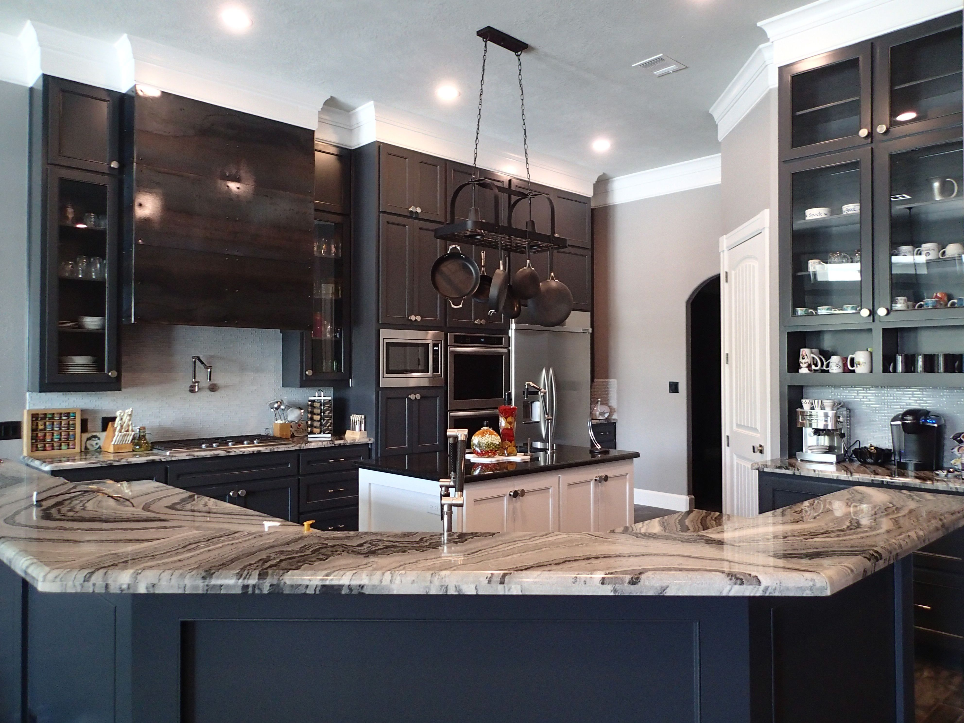 Best Kitchen Custom Cabinets In Charcoal Steel Vent Hood 640 x 480