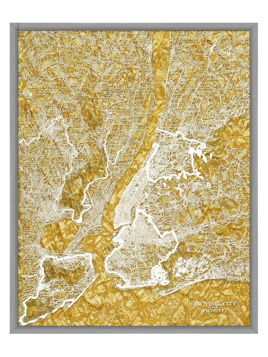 PTM Images New York City Map II (Shadow Box Frame) | Fashion Home ...