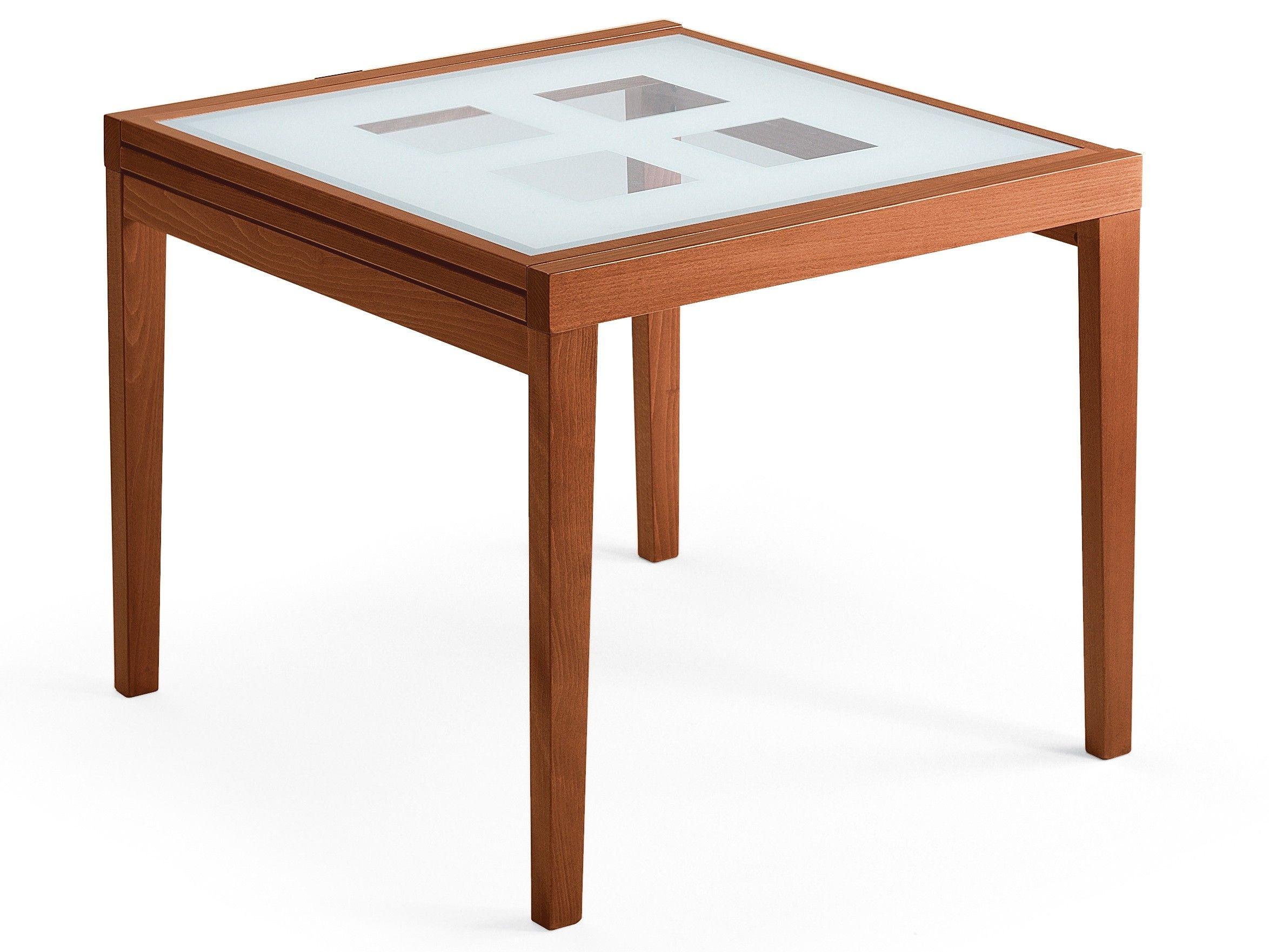 DomItalia Poker Frosted Glass Dining Table 90