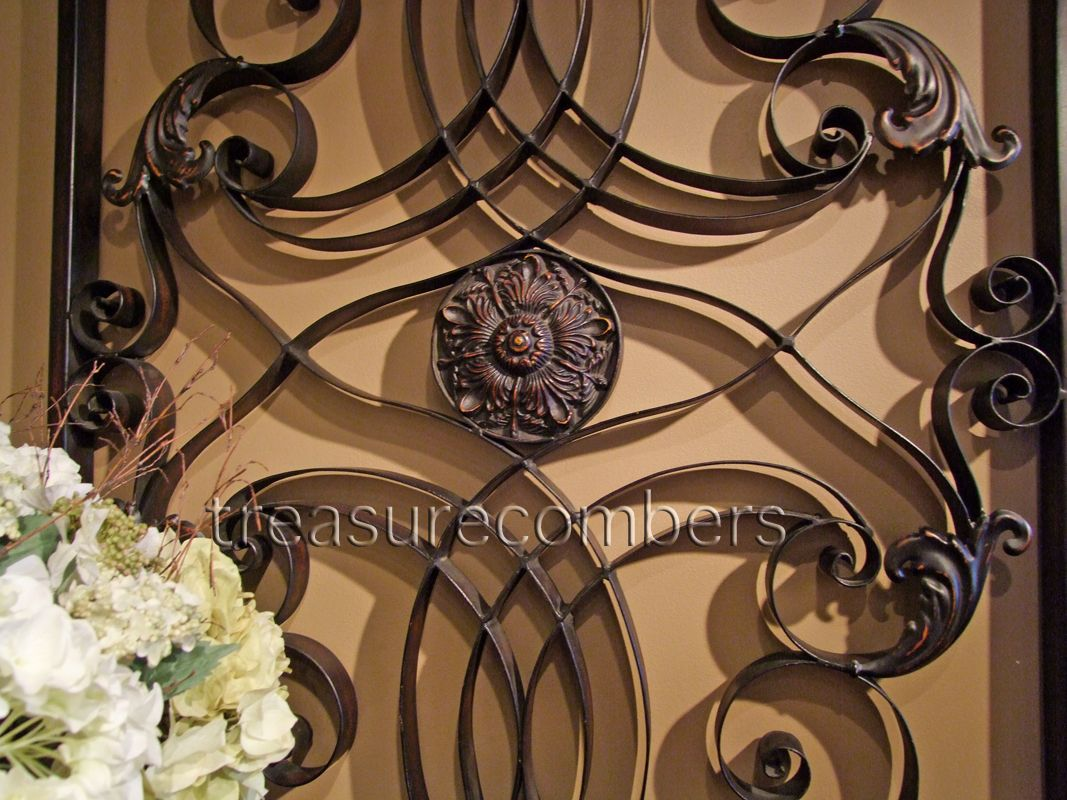 Large Forged Metal Wall Grille Tuscan Grill Xl 61 Art Panel With