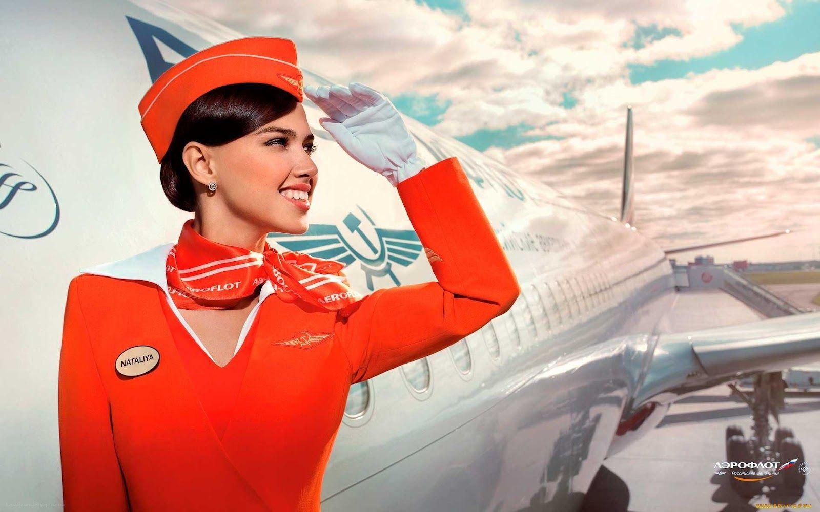 aeroflot attendant Aeroflot Stewardess