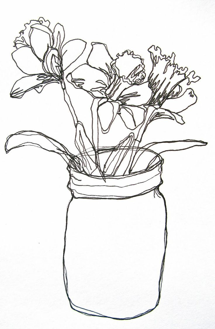 Contour Line Drawing Of A Flower : The first one is a line drawing of dandelions contemporary art pinterest