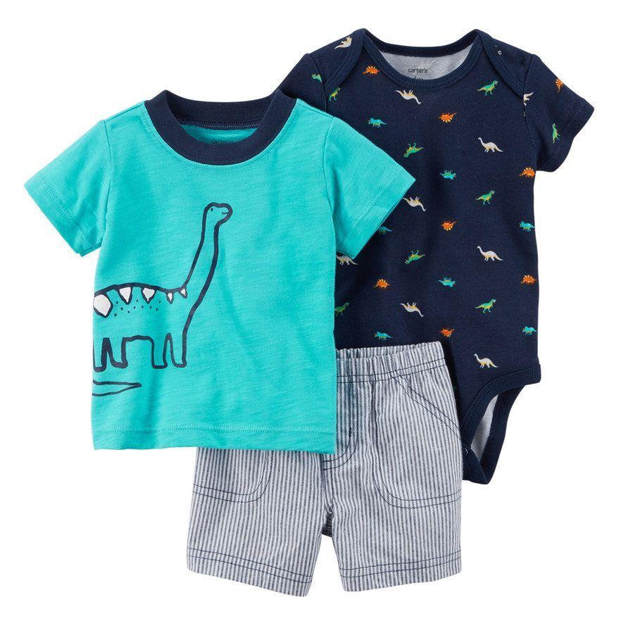 adea05ae91d1 Baby Boy Carter s 3-pc. Dinosaur Diaper Cover Set