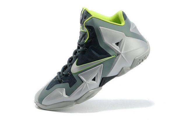 e3485871de4 Nike Lebron XI 11 Dunkman Green Volt Sneakers
