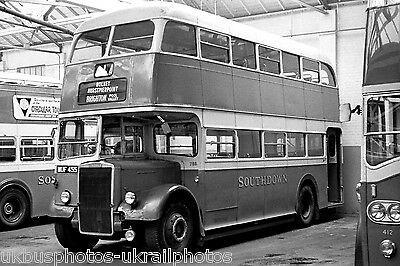 Southdown 755 MUF455 Leyland PD2 6x4 Bus Photo Ref P097  | eBay