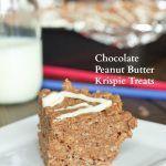 Chocolate and Peanut Butter Krispie Treats