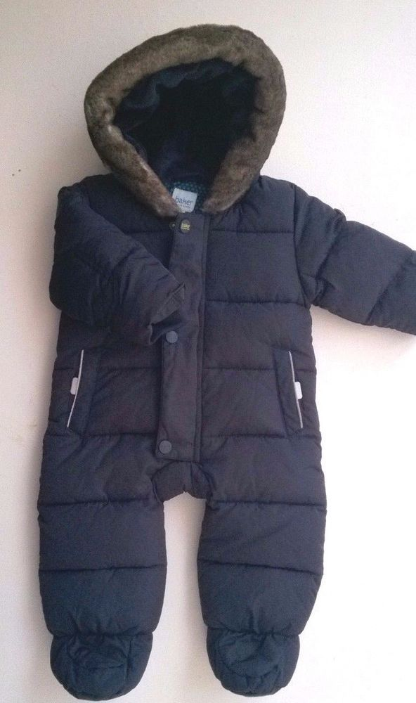 1e767aa9a Ted Baker Baby Boys Navy Blue Snowsuit 3-6 months Very Good ...