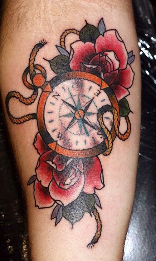 195556ee9 rose + boussol oldschool - Recherche Google | Tattoo | Tattoos, Old ...