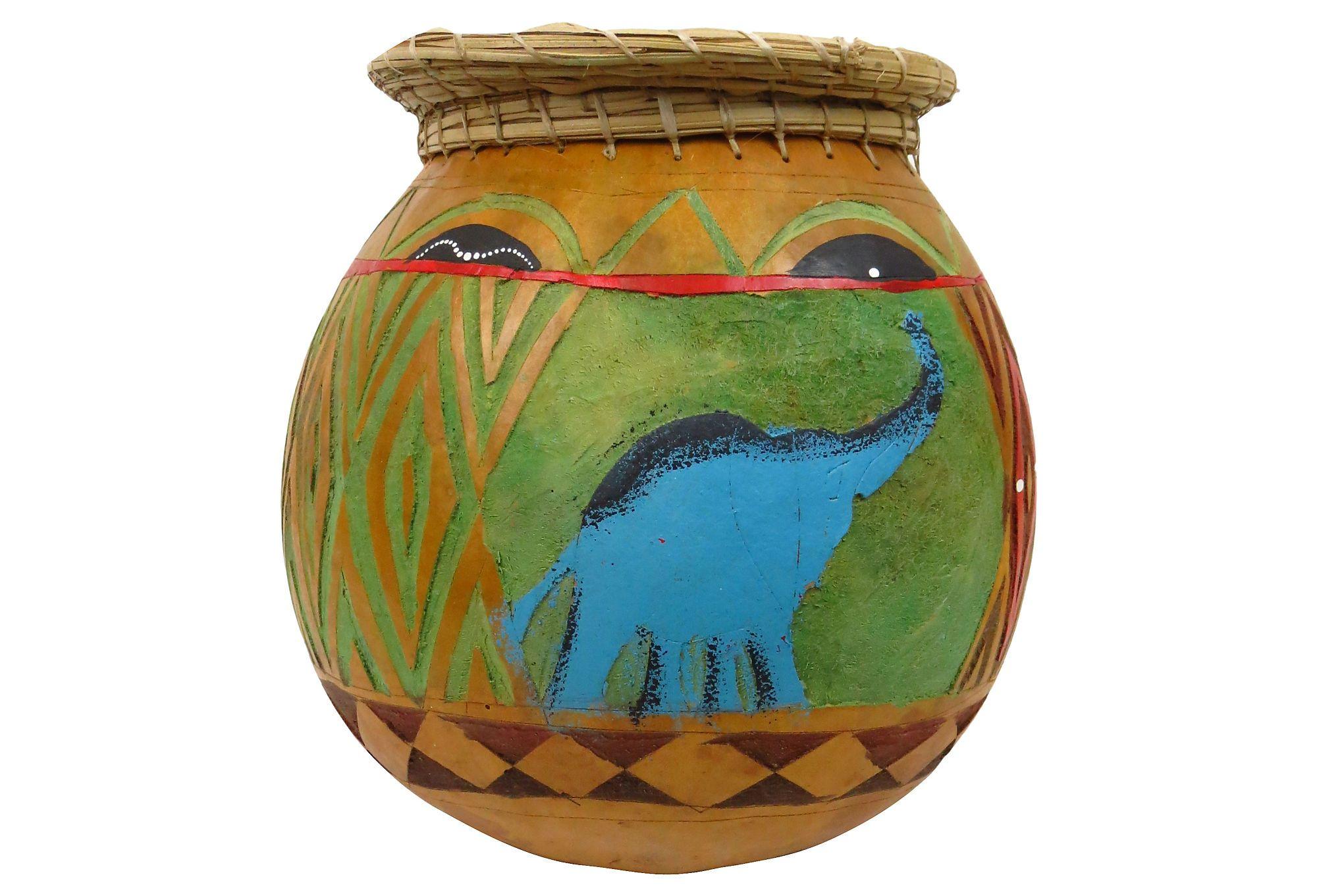 African Gourd Basket Gourds Decorative Accessories African
