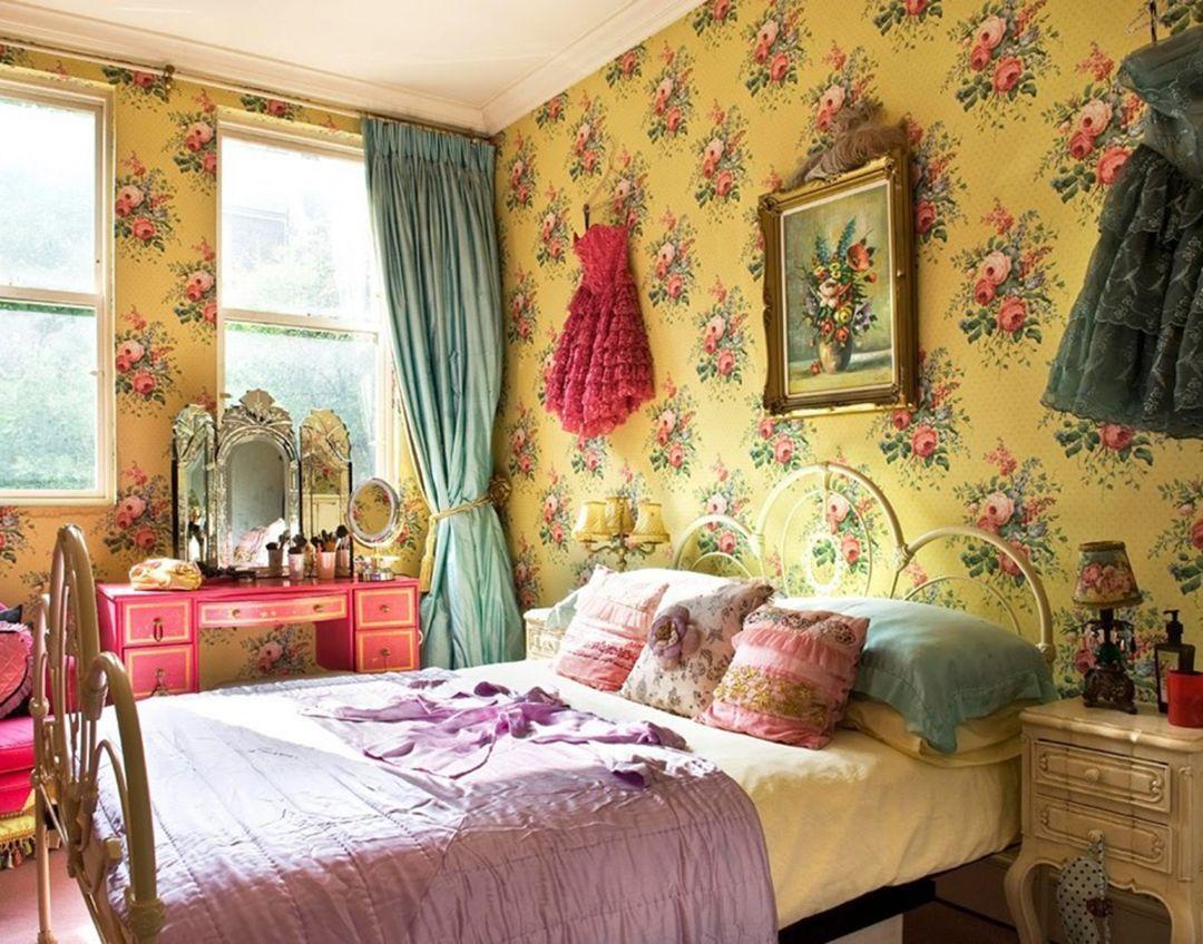 Vintage Bedroom Design and Decorating  Bedroom vintage, Bohemian