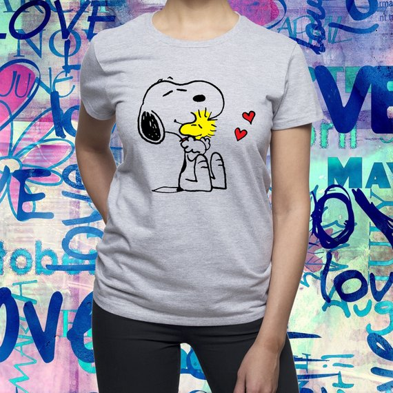 95f3718bfb24c5 Snoopy Hug Woodstock shirt/ Woodstock and Snoopy tshirt/ Womens t shirt/ Women  shirt