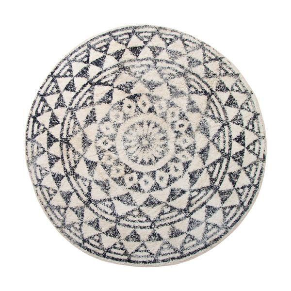 Teppich rund schwarz weiß  runde badematte, schwarz weiß gemustert. runder badezimmer teppich ...