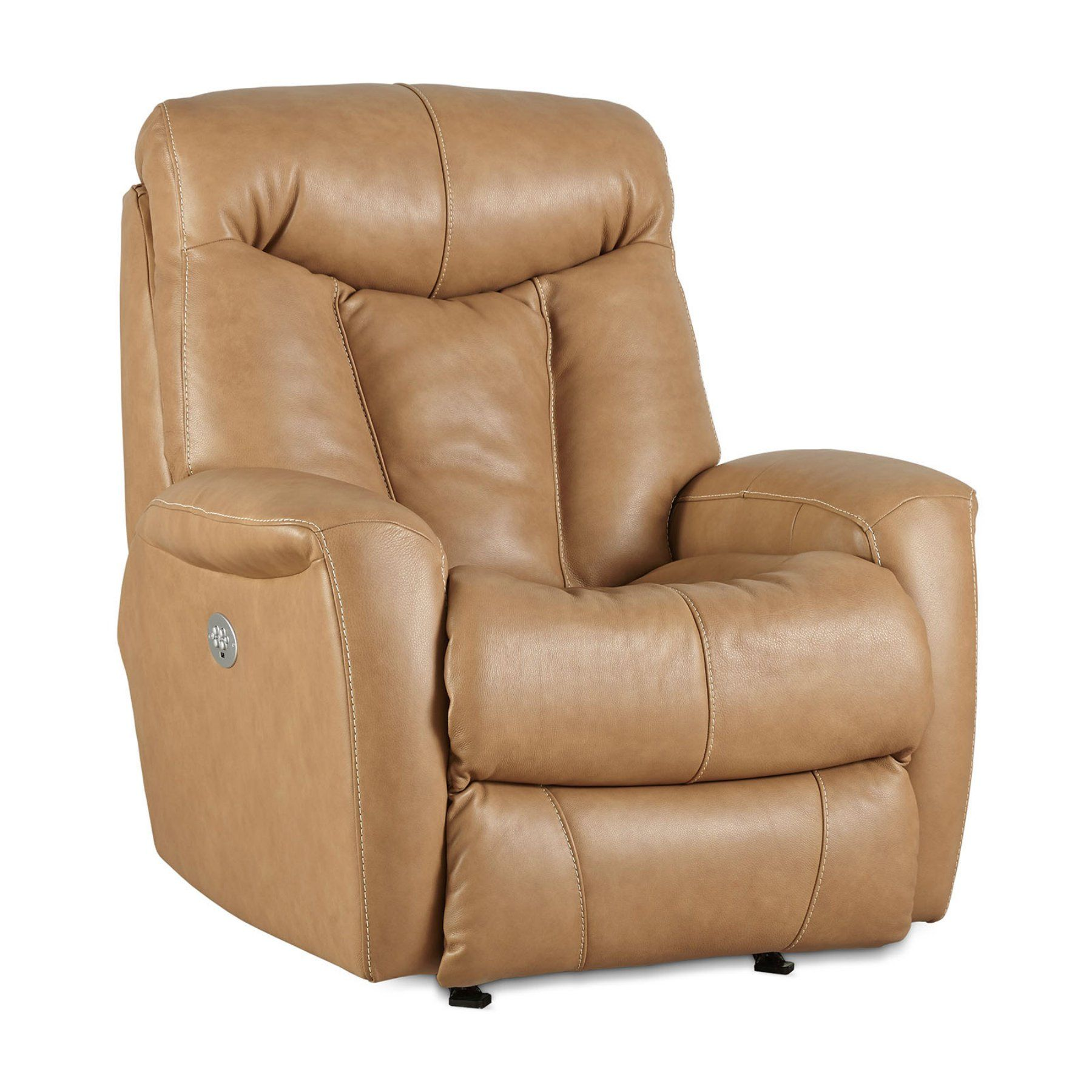 Recline Designs Gibby Leather Rocker Recliner With Power Headrest
