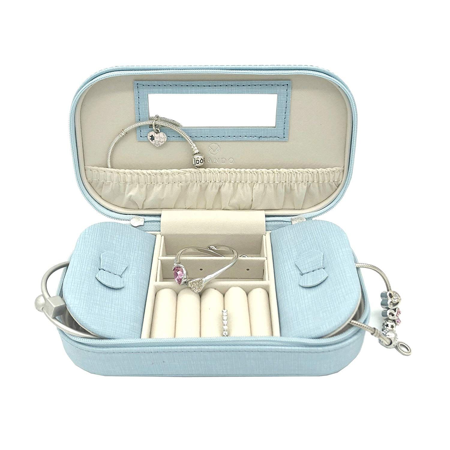 9afafa6d2399 Amazon.com: Vlando Small Travel Tassel Jewelry Box Organizer - Woman ...