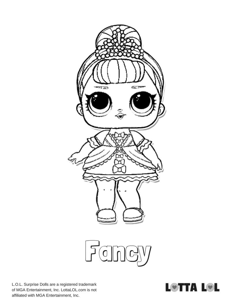 Fancy Coloring Page Lotta LOL LOL Surprise Dolls Series