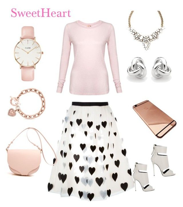 """SweetHeart"" by danivsdaniella on Polyvore featuring Alice + Olivia, CLUSE, Giuseppe Zanotti, Georgini, Michael Kors and Sundry"