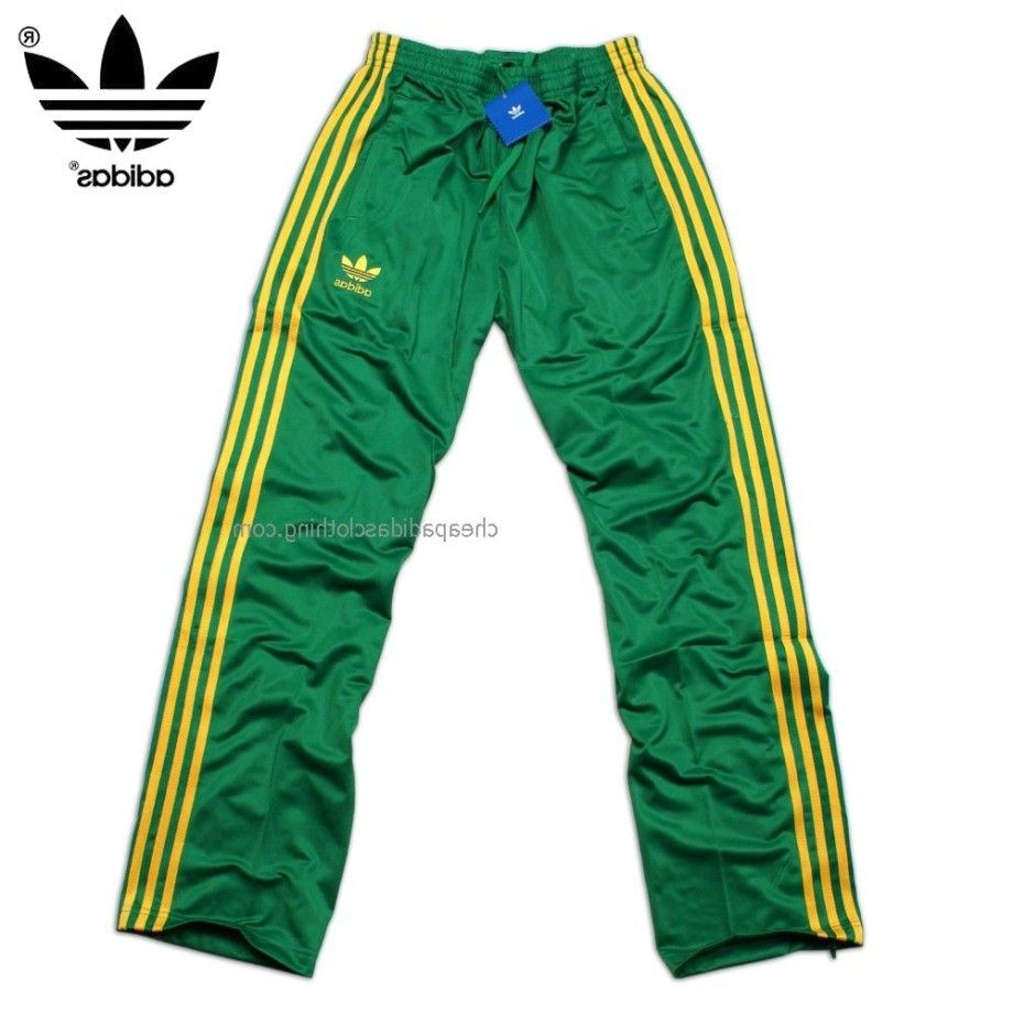 Portsmouth Adidas Originals Mens Training Pants Green Yellow Strongly Recommended