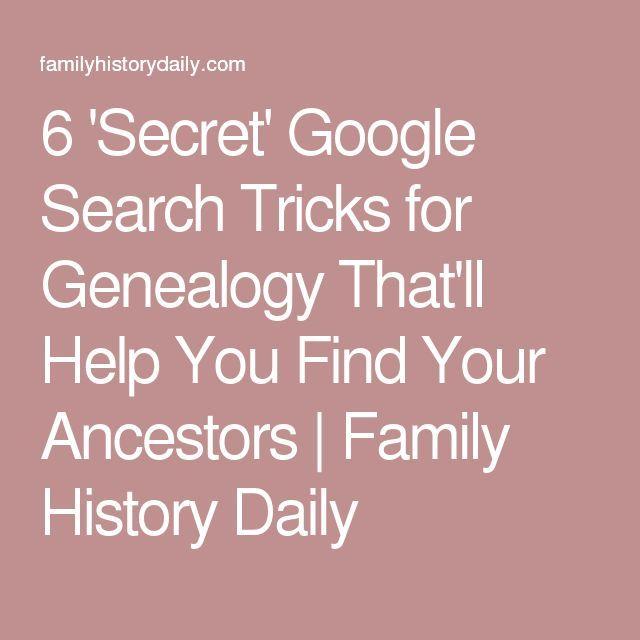 6 u0027Secretu0027 Google Search Tricks for Genealogy Thatu0027ll Help You - historical researcher sample resume