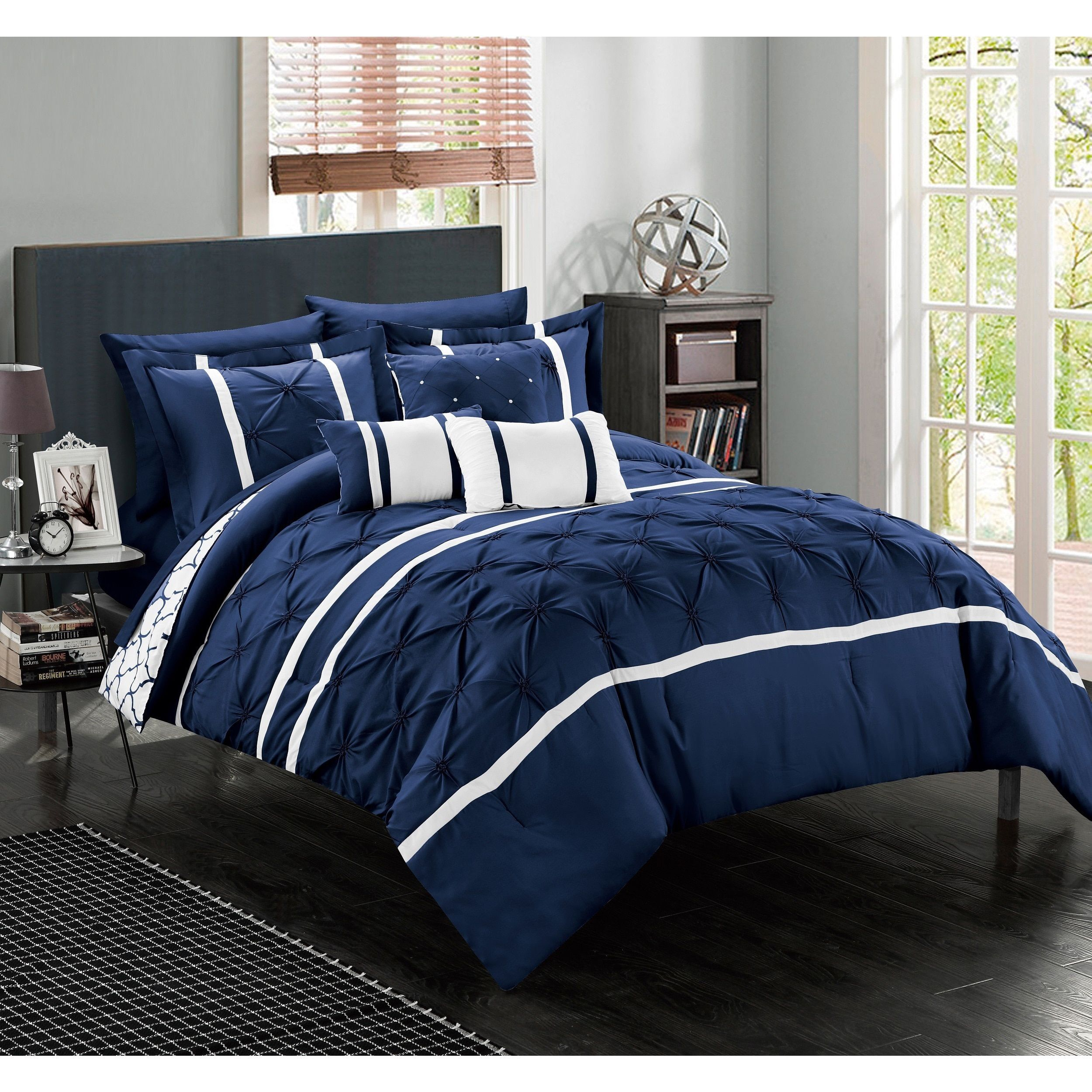 dress up your bedroom decor with this 10piece comforter set this reversible