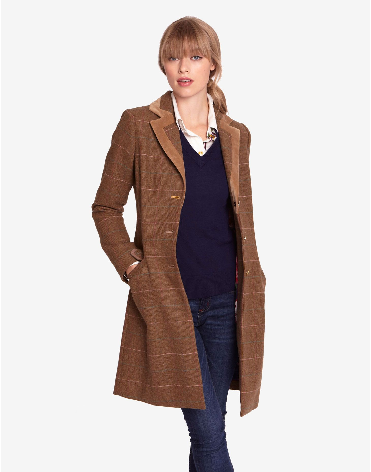 womens tweed coats | Sand Duchess Womens Tweed Coats | Joules UK ...