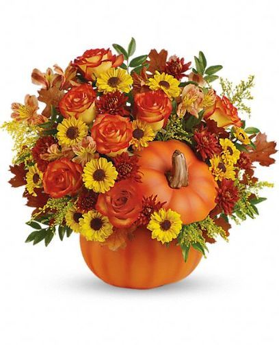 Warm Fall Wishes Bouquet Celebrate The Beauty Of Fall With This Colorful Heartwarming Mix Of Roses And Alstroem Wild Flower Arrangements Thanksgiving Flowers
