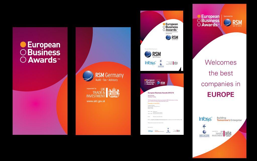 Corporate invitations 2015 European Business Award designs