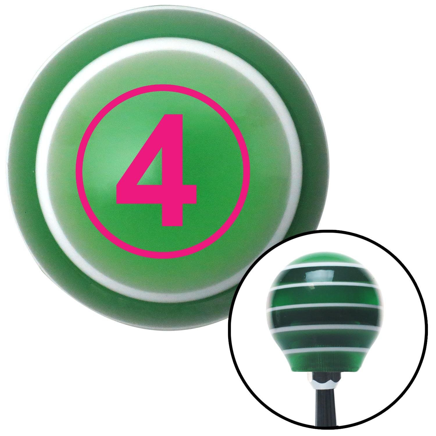 Pink Ball 4 Green Stripe Shift Knob with M16 x 15 Insert - Give your interior the ultimate look. American Shifter's Elite(TM) series shift knobs are made from the highest quality components resulting in a superior feel on every shift. Each shift knob is designed and customized in the USA by skilled shift knob artisans who have a trained eye on every detail. American Shifters shift knobs offers an exclusive aluminum threaded insert designed to be screwed onto your shift arm. You should avoid…
