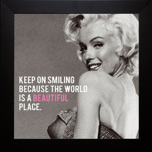 Icon VI Framed Art Print of Marilyn Monroe with Quote (text) 20 x 20 ...