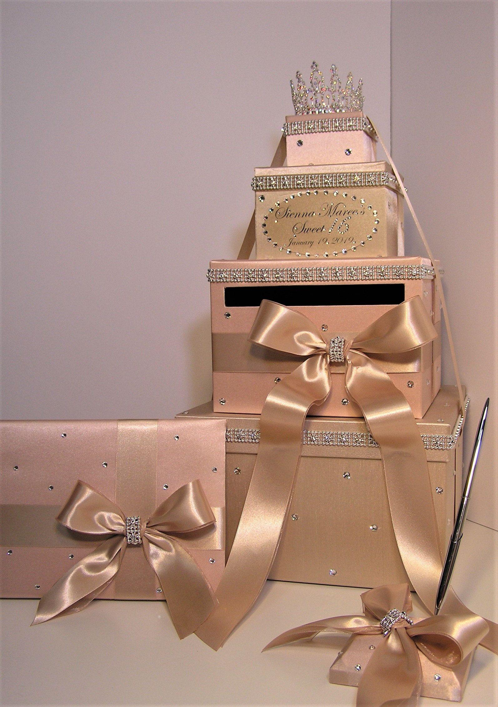 quinceañerasweet 16birthdaywedding card box 3 sets4